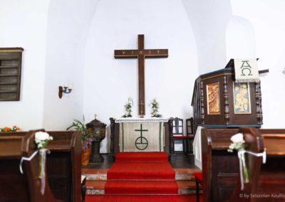 Altarraum der Kapelle in Oberbärenburg