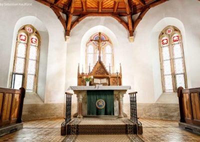 Altarraum in der Kirche Fürstenau