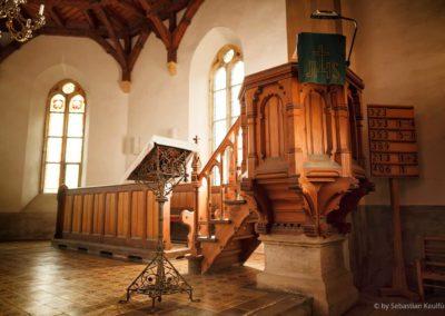 Kanzel der Kirche Fürstenau