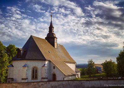 Die Kirche Fürstenwalde im Sommer