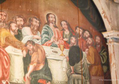 Das Abendmahl - Bemalung am Alter der Kirche Fürstenwalde