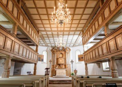 Innenraum der Kirche Liebenau