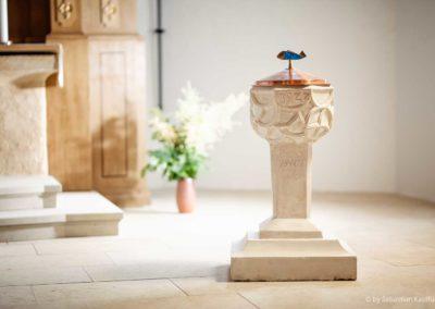 Taufstein in der Kirche Liebenau