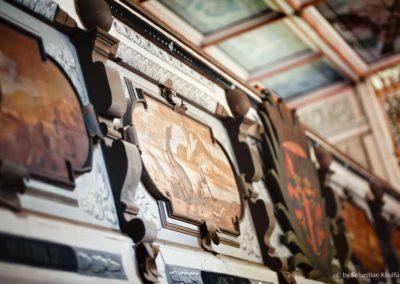 Bemalungen an der Empore der Schellerhauer Kirche