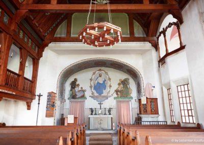 Innenraum der Kirche Zinnwald
